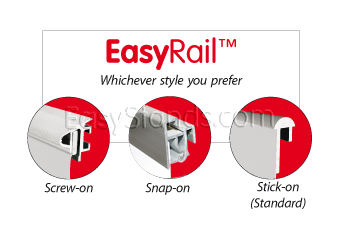 EasyRail, Screw it on, or Stick it